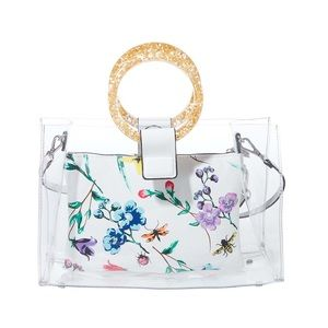 🆕Betsey Johnson Totes Clear Ring Tote w/ Wristlet